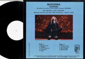 MADONNA SURPRISE - VIRGIN TOUR WHITE LABEL VINYL LP